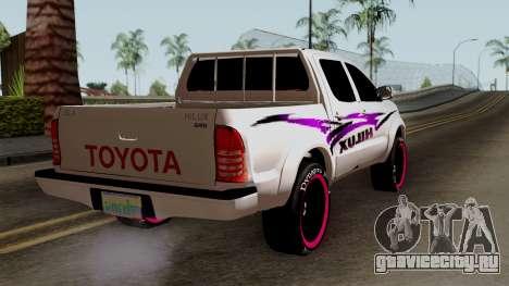 Toyota Hilux 2014 для GTA San Andreas вид слева