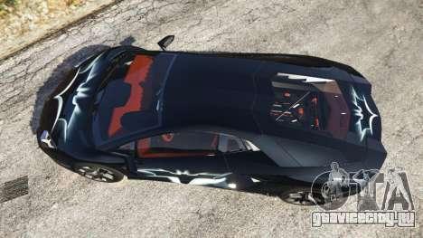 Lamborghini Aventador LP700-4 Batman v2 для GTA 5 вид сзади