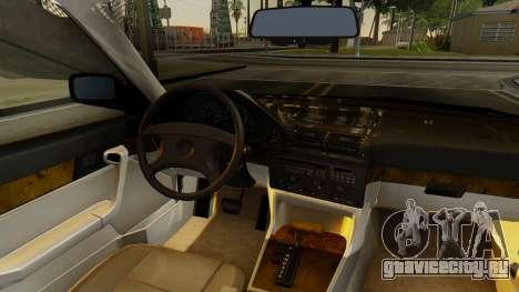 BMW 535i E34 1993 для GTA San Andreas вид сзади