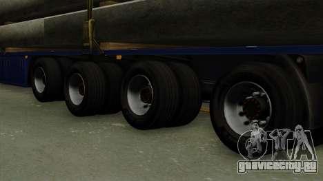 Flatbed3 Blue для GTA San Andreas вид сзади слева