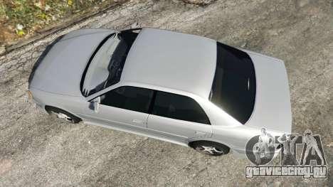 Toyota Chaser 1999 v0.3 для GTA 5 вид сзади