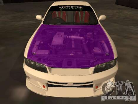 Nissan Skyline R33 Drift Monster Energy JDM для GTA San Andreas вид снизу