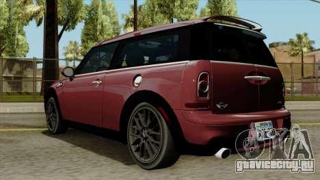Mini Cooper Batik PaintJob для GTA San Andreas вид слева