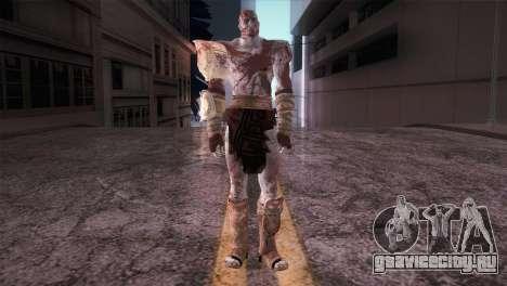 God Of War 3 Kratos Blood для GTA San Andreas второй скриншот