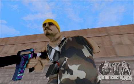 M4A1 Color для GTA San Andreas четвёртый скриншот