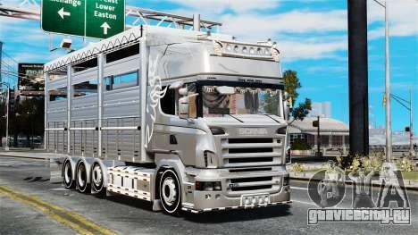 Scania R580 для GTA 4 вид сзади