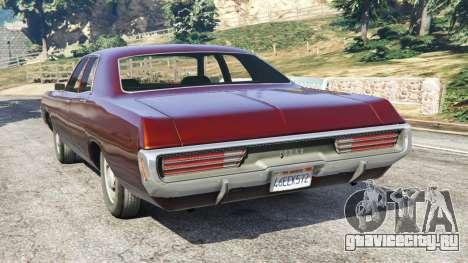 Dodge Polara 1971 для GTA 5 вид сзади слева