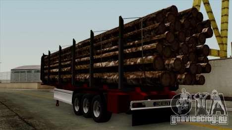 Trailer Fliegl v2 для GTA San Andreas вид слева
