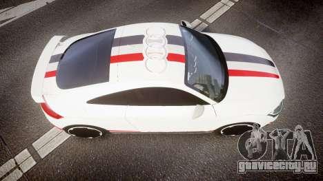 Audi TT RS 2010 Quattro для GTA 4 вид справа