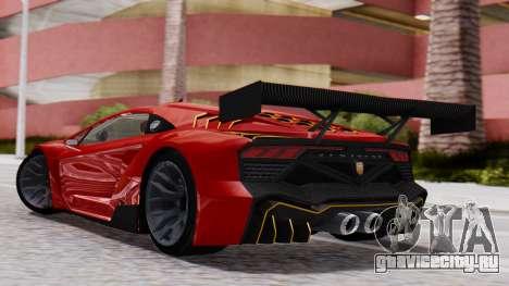 Pegassi Zentorno SM GT3 для GTA San Andreas вид слева