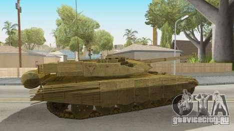 T-90MS CoD Ghost для GTA San Andreas вид сзади слева