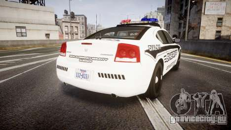 Dodge Charger 2010 New Alderney Sheriff [ELS] для GTA 4 вид сзади слева