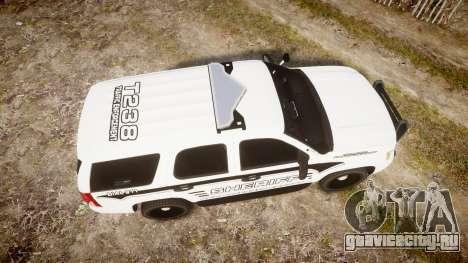 Chevrolet Tahoe 2013 New Alderney Sheriff [ELS] для GTA 4 вид справа