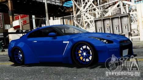 Nissan GT-R R35 Liberty Walk для GTA 4 вид сзади