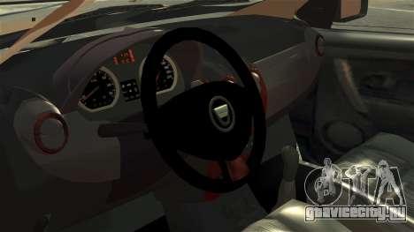 Dacia Logan MCV Stepway 2014 для GTA 4 вид сзади