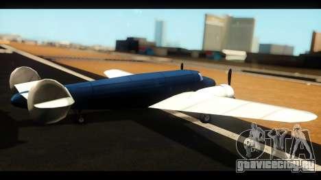 Бомбардировщик v1.0 для GTA San Andreas вид слева