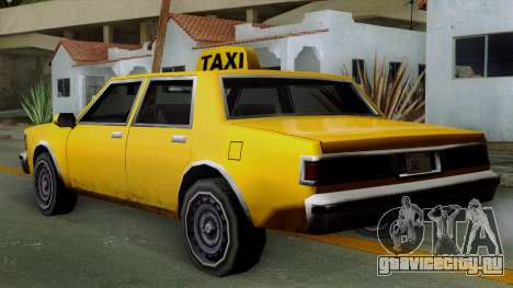 Classic Taxi Los Santos для GTA San Andreas вид слева