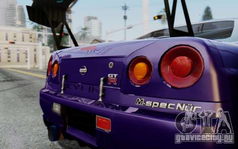 Nissan Skyline GT-R R34 Battle Machine для GTA San Andreas вид сзади слева