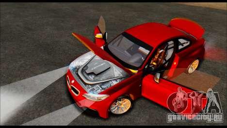 BMW 235i F22 для GTA San Andreas вид сзади