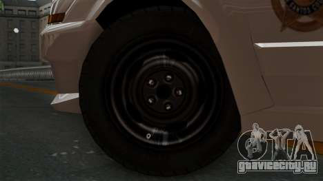 GTA 5 Sheriff Car для GTA San Andreas вид сзади слева
