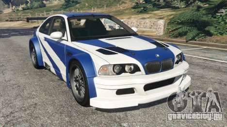 BMW M3 GTR E46 Most Wanted v1.3 для GTA 5
