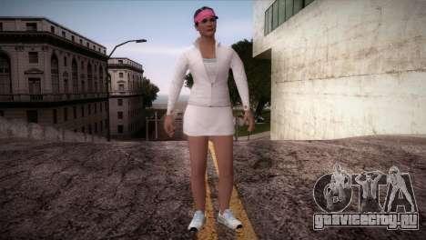 GTA 5 Amanda De Santa Tennis Skin для GTA San Andreas второй скриншот