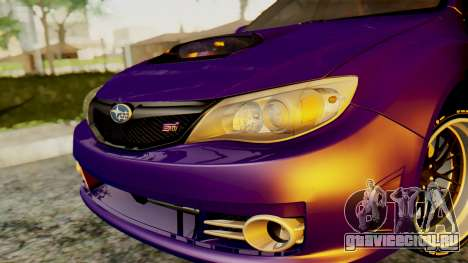 Subaru Impreza WRX STI 2008 для GTA San Andreas вид справа