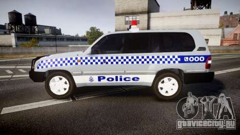 Toyota Land Cruiser 100 2005 Police [ELS] для GTA 4 вид слева