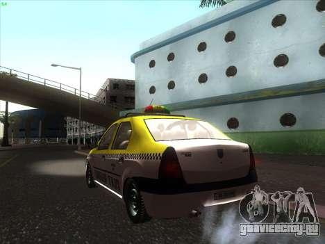 Дачия Логан такси UNIVIP для GTA San Andreas вид слева