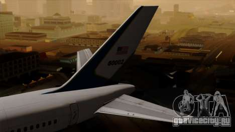 Boeing C-32 Air Force Two для GTA San Andreas вид сзади слева