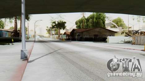 Winter Grove Street для GTA San Andreas второй скриншот