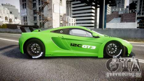 McLaren MP4-12C GT3 blank liveries для GTA 4
