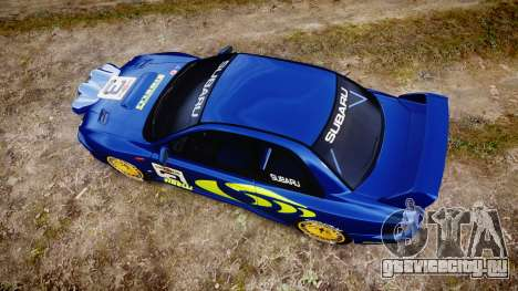 Subaru Impreza WRC 1998 World Rally для GTA 4 вид справа