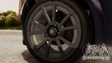 GTA 5 Cheval Fugitive IVF для GTA San Andreas вид сзади слева