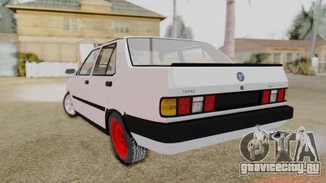 Tofas Turbo SLX 1.6 для GTA San Andreas вид слева