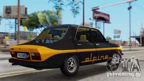Renault 12 Alpine для GTA San Andreas вид сзади слева