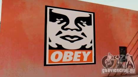 OBEY Graffiti для GTA San Andreas второй скриншот