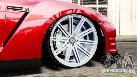 Nissan GT-R AMS 2012 для GTA 4 вид сзади слева