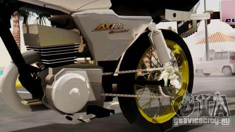 Suzuki AX 100 Stunt для GTA San Andreas вид справа