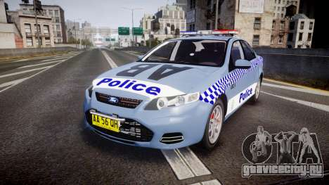 Ford Falcon FG XR6 Turbo NSW Police [ELS] v2.0 для GTA 4