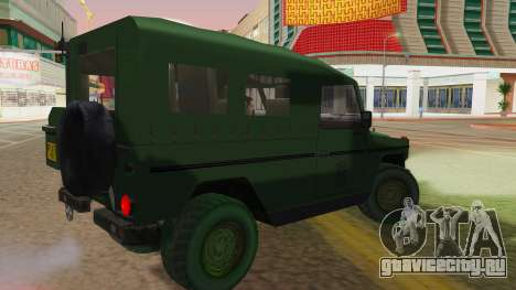 Mercedes-Benz G Wolf Croatian Army для GTA San Andreas вид слева