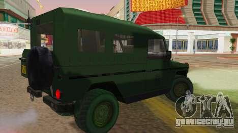 Mercedes-Benz G Wolf Croatian Army для GTA San Andreas вид слева