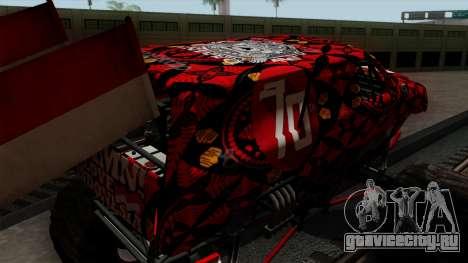 The Seventy Monster v2 для GTA San Andreas вид сбоку