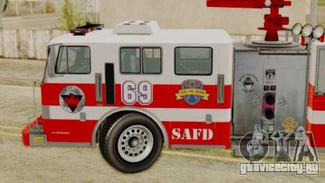 MTL SAFD Firetruck для GTA San Andreas вид сзади слева