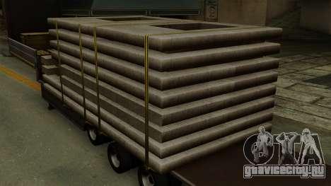 Flatbed3 Grey для GTA San Andreas вид сзади