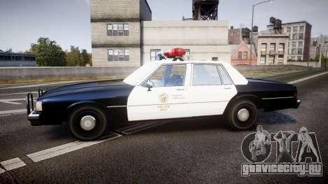 Chevrolet Caprice 1989 LAPD [ELS] для GTA 4 вид слева