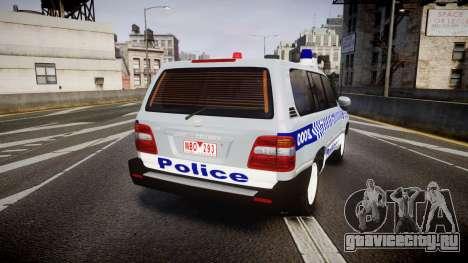 Toyota Land Cruiser 100 2005 Police [ELS] для GTA 4 вид сзади слева