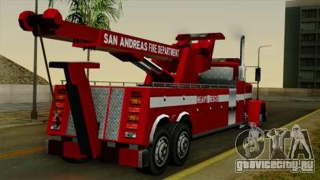 FDSA Heavy Rescue Truck для GTA San Andreas вид слева