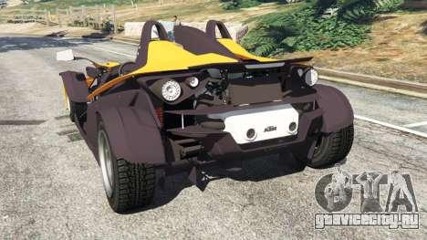 KTM X-Bow [Beta] для GTA 5 вид сзади слева