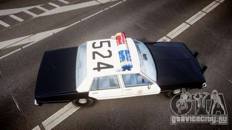 Chevrolet Caprice 1989 LAPD [ELS] для GTA 4 вид справа